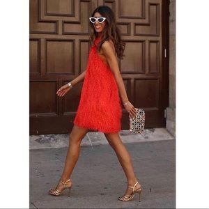 Blogger Favorite 🧡 Orange Textured Halter Dress